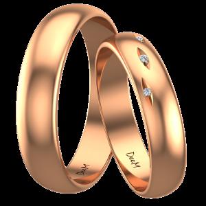 obrączki ślubne z czerwonego złota